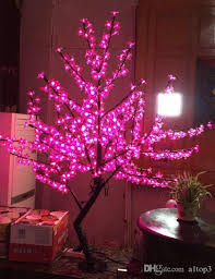 2018 Free Ship 5ft 15m Height Pink Led Cherry Blossom Tree Outdoor Indoor Christmas Wedding Garden Holiday Light Decor 480 Leds From A1top3
