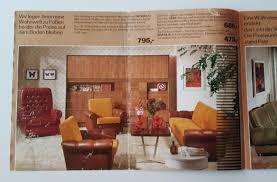 prospekt katalog möbel 70er wohnzimmer küche möbelhaus