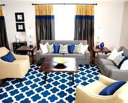 Blue Gray Yellow Living Room Grey On And