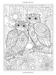 Creative Haven Owls Coloring Book Artwork By Marjorie Sarnat Owl Pages Colouring Adult
