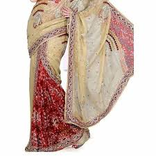 Hand Work Embroidered Saree