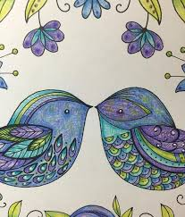 From Joyous Blooms To Color By Eleri Fowler I Didnt Do A Lot Of Blending On This Piece Tried Not But Couldnt Help It Great Paper In Book