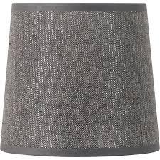 abat jour conique 22 cm coton gris paillettes leroy merlin