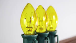 yellow c7 twinkle bulb incandescent