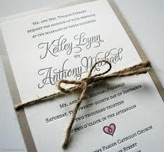 Letterpress Hand Painted Rustic Wedding Invitations