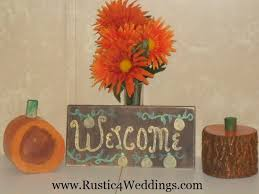 Wood Pumpkins And Shabby Chic Pumpkin Welcome Sign For Sale Fall Decorations
