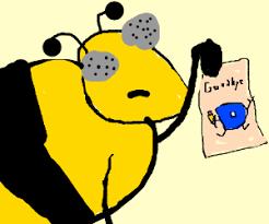 The bees say goodbye