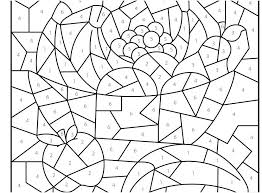 Coloring Pages With Numbers Hard Color By Animals View Colors Printable N
