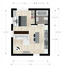 20ftx24ft Cabin Or Studio Apartment Layout Floor Plan Of Hdb
