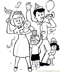 Family Coloring Page 05