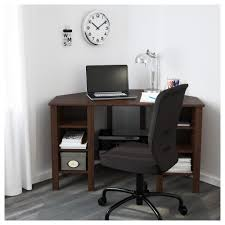 brusali corner desk brown 120x73 cm ikea