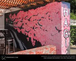 Sakura Cherry Blossom Tree Mural Art