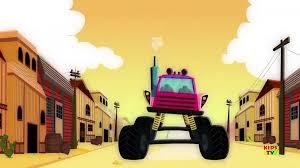 100 Truck Song Wheels On The Monster Truck Trucks Song Kids Video Kids Tv