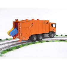 Amazon.com: Bruder Scania R-Series Garbage Truck - Orange: Toys & Games