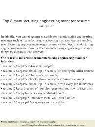 Manufacturing Engineering Resume Engineer Elegant Manager Examples Of Resumes