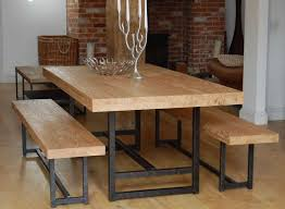 Bench Dining Room Tables With Benches And Chairs