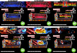 Mortal Kombat Arcade Cabinet Ebay by Arcade Marquee Stickers Graphics Laminated All Designs Street