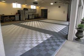 chic garage flooring the benefits of vinyl composite tile vct