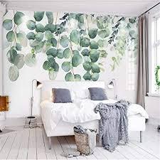 tapeten wandbild hintergrundbild fototapete benutzerdefinierte pflanzen schlafzimmer wohnzimmer wand handgemalte aquarell grün pflanzen blatt
