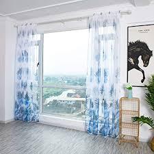 vorhang blumen gardine blumenmuster transparenter stickerei