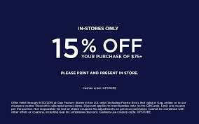 Gap Factory Coupons - Extra $15 Off $75 At Gap Factory Locations Gap Factory Coupons 55 Off Everything At Or Outlet Store Coupon 2019 Up To 85 Off Womens Apparel Home Bana Republic Stuarts Ldon Discount Code Pc Plus Points Promo 80 Toddler Clearance Southern Savers Please Verify That You Are Human 50 15 Party Direct Advanced Personal Care Solutions Bytox Acer The Krazy Coupon Lady