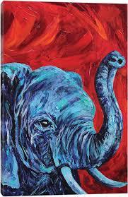 Elephant Canvas Art Print ElephantLindsey Dahl