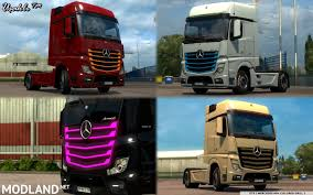 Mercedes MP4 New Actros 2014 Colored Grill 2 Mod For ETS 2