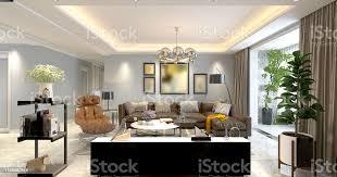 3d render moderne gemütliche wohnzimmer stockfoto und mehr bilder architektur
