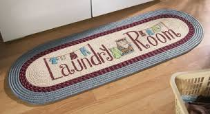 Laundry Room Braided Rug Runner from Collections Etc