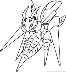 Mega Beedrill Pokemon Coloring Page