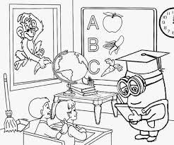 ABC Coloring Pages Headmaster Kids School Teacher Costume Minion Classroom Ideas And Art Activities