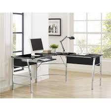 Ameriwood L Shaped Desk Assembly by Ameriwood Furniture Wingate Glass Top L Desk Black