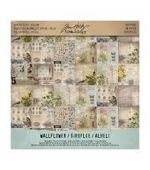 100 Wallflower Designs Tim Holtz Ideaology Paper Stash Vellum JOANN