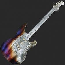 Guitar Large Metal Wall Art H96cm