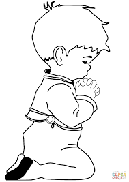 Click The Praying Little Boy Coloring Pages To View Printable Version Or Color It Online Compatible With IPad And Android Tablets