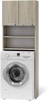 bim furniture badezimmerschrank für waschmaschine 61x183 cm schrank badezimmer regal kommode badschrank badkommode sonome eiche