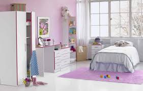 Nice Purple And White Themed Kids Bedroom Design Ideas With