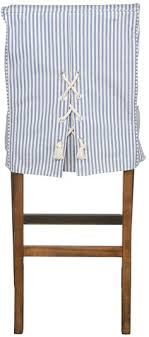 Nautical Looking Slipcover Detail That Would Look Great On Back Of Chairs