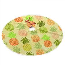 Amazoncom NLXQ Cute Pineapple Fruit Christmas Tree Skirt Ornament