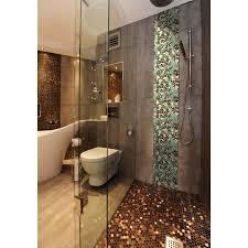 pebble mosaic tile glazed porcelain kitchen backsplash