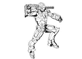 Armed Iron Man Coloring Page