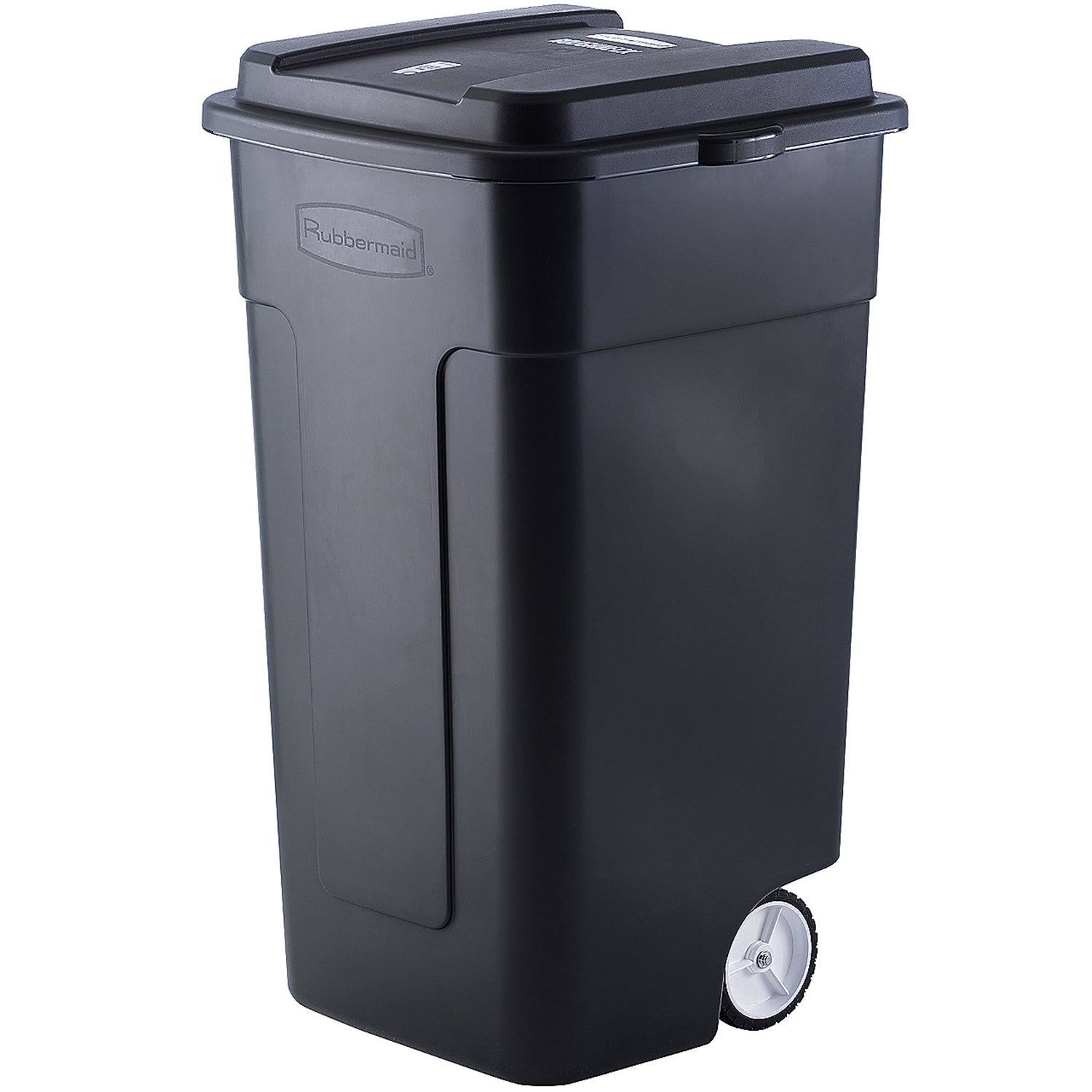 Rubbermaid Home Trash Can - Black, 189.3l