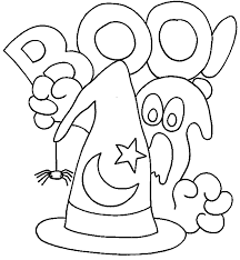 Printable Halloween Coloring Pages Happy