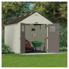 Suncast Garden Shed Taupe by Resin Tremont Storage Shed 8 U0027 X 10 U0027 Vanilla Gray Suncast Target