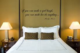 Marilyn Monroe Quotes Wall Art For Master Bedroom Decor With Contemporary Table Lamps