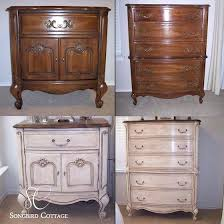 Refurbished Furniture Before And After French With Chalk Store Names