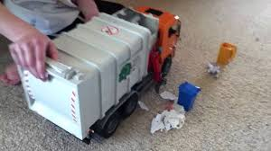 Bruder Toy Garbage Truck Side And Back Loader - YouTube