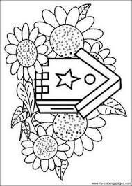 Birdhouse Coloring Pages 025