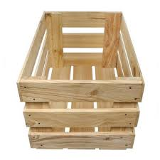 Open Wooden Crate Box