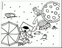 Beautiful Summer Vacation Coloring Pages With Color And Crayola